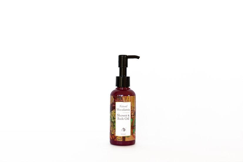 Shower & Bath Oil | All Natural Macadamia | Body & Hair