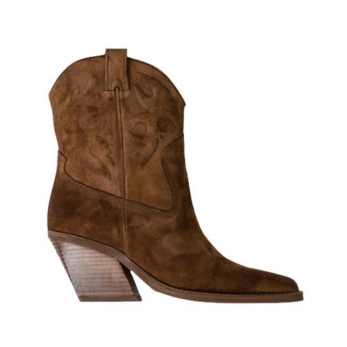 Bronx Low-Kole Boots Cognac