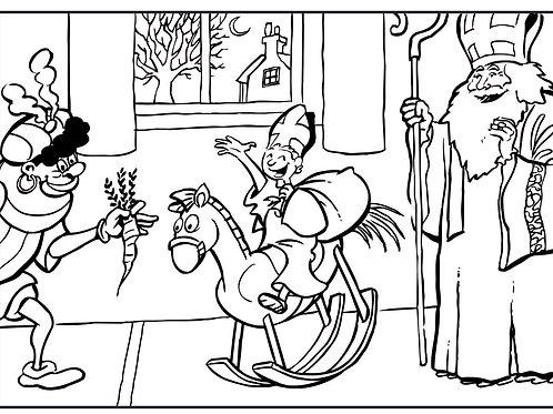 Sinterklaas kleurplaat