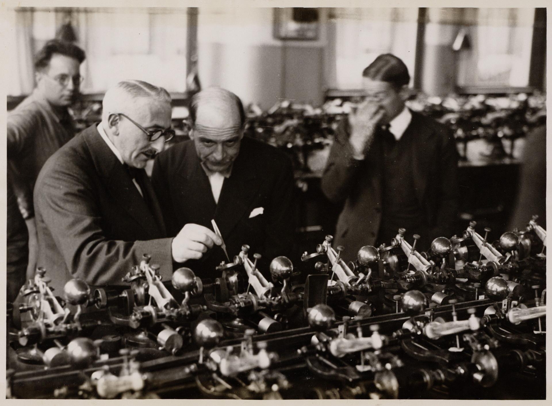 Visit by Italian Count Carlo Senni. ca 1930