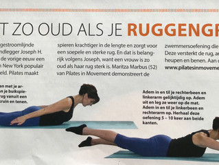 Gloss magazine over pilates
