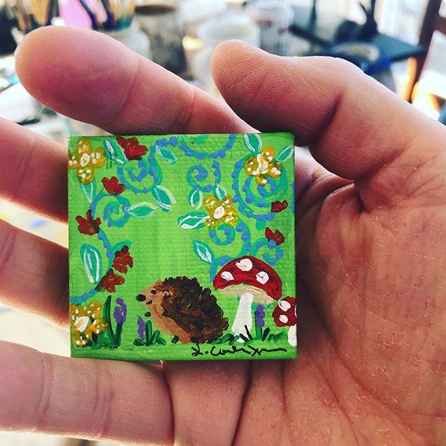 Hedgehog mini painting