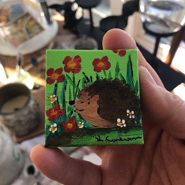 Hedgehog mini paintings