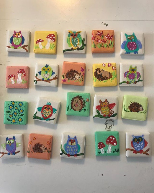 Whimsical miniature magnets