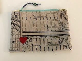 City Map Zipper Pouch
