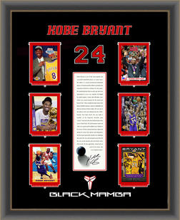 "Kobe Bryant Collector Card ""Black Mamba"" Shadowbox"