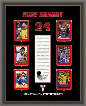 "Kobe Bryant Collector Card ""Black Mamba"" Shadowbox"