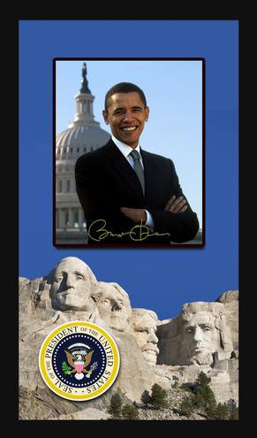 Obama Mount Rushmore Shadowbox