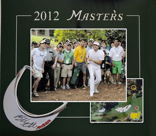2012 Masters Golf Shadowbox