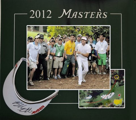 2012 Masters Golf Shadowbox