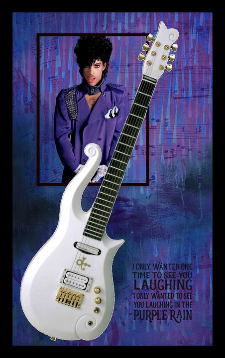 "Prince ""White Cloud"" Guitar Shadowbox"
