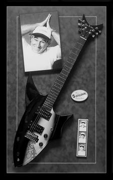 Jimmy Buffet Shark Guitar Shadowbox
