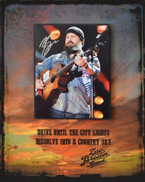 Zac Brown Shadowbox Display