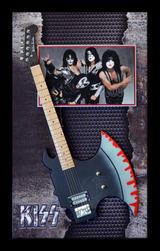 Kiss Shark Guitar SHadowbox