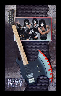 Kiss Shark Guitar SHadowbox