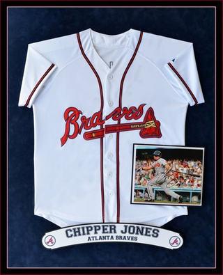 Chipper Jones Jersey Shadowbox