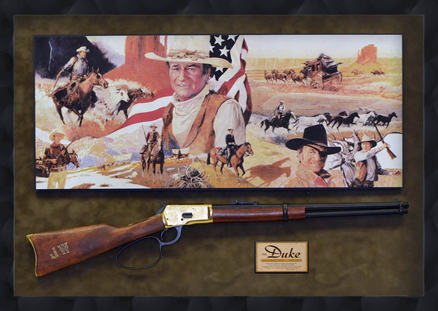 """The Duke"" John Wayn Rifle Shadowbox"