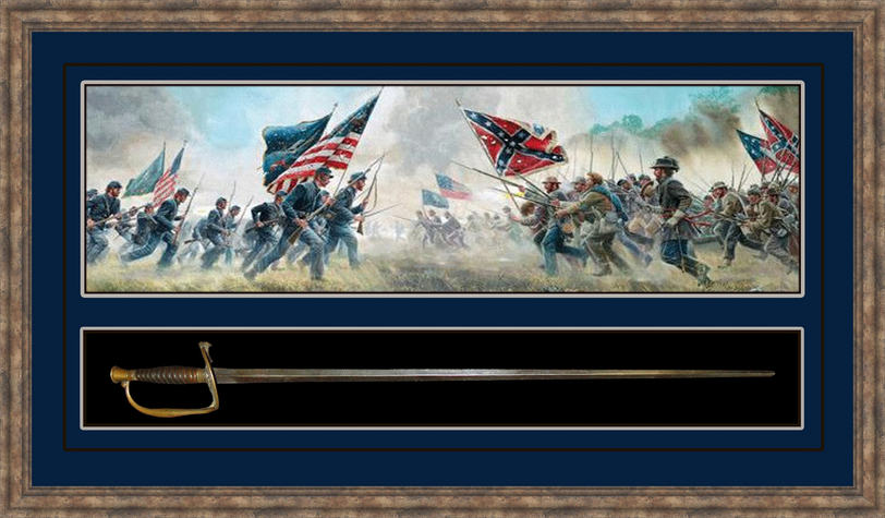 Civil War Sword Shadowbox