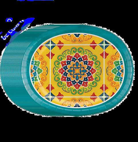 Paper Plates - 50 Lg Sturdy Oval