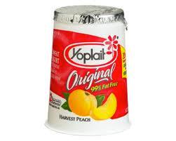Yoplait Fruit on Bottom - Peach -145g -4pk