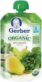 Gerber Pouches - pear squash
