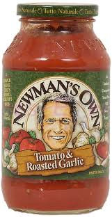 Newman's Own Spagetti Sauce - 24oz roasted garlic