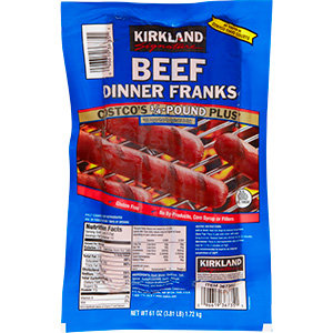 Beef Franks -1/4lb -15 ex long