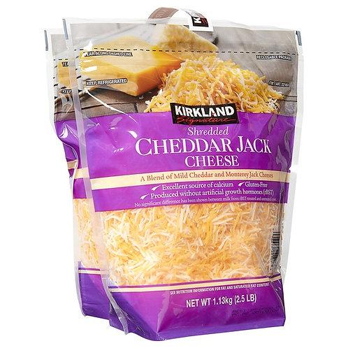 Kirkland Grated Cheddar Jack -1Bag/2.5lbs