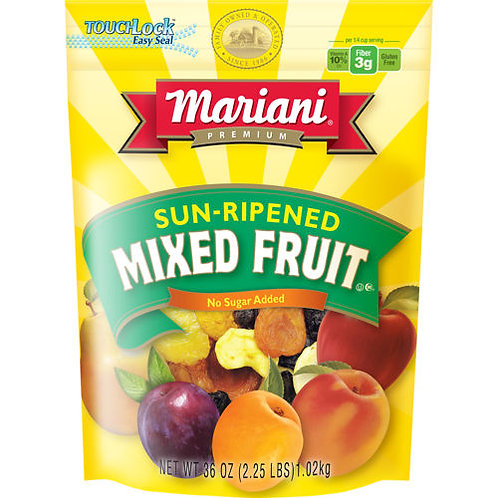 Mariani Mixed Dried Fruit - no sugar -36oz