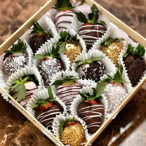 Box of Chocolate Covered Strawberries - 15 approx