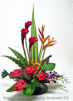Tropical Flower Arrangement - med size