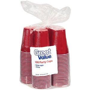 100 Plastic Cups - 16oz