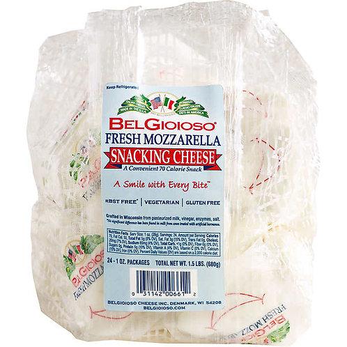 Fresh Mozzarella Snacking Cheese -24/1oz packs