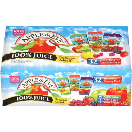Apple & Eve Juice Boxes- Case of 32