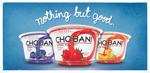 Chobani Greek Yogurt cups/assorted flavors  8pk