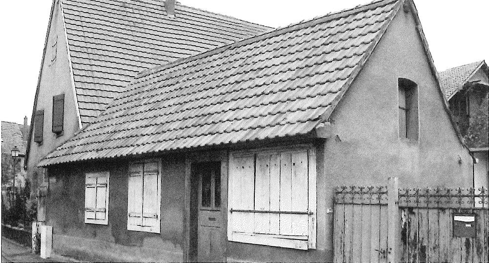 Maison qui abritait la boucherie de Gustave Tempé à Réguisheim (Haut-Rhin)