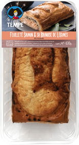 Feuilleté Saumon & Brunoise de Légumes