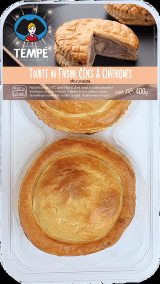 Tourte au Faisan, Cèpes & Châtaignes