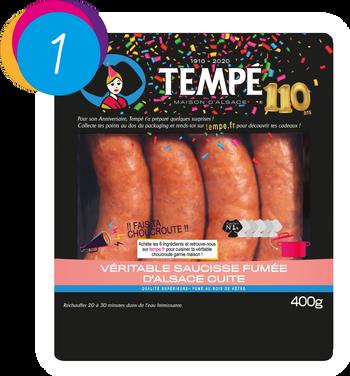 Saucisses fumées d'Alsace Tempé