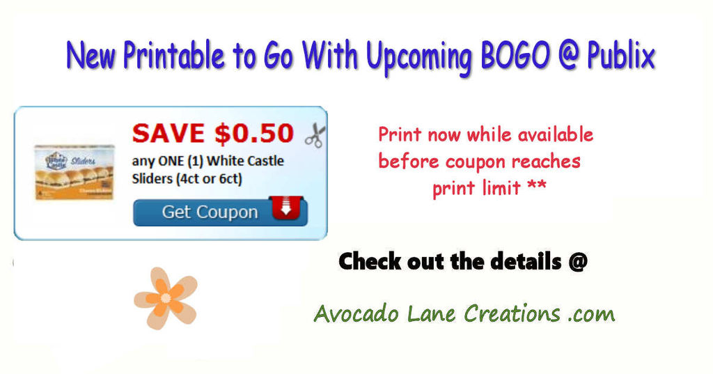 New Printable To Go With Upcoming Bogo Publix