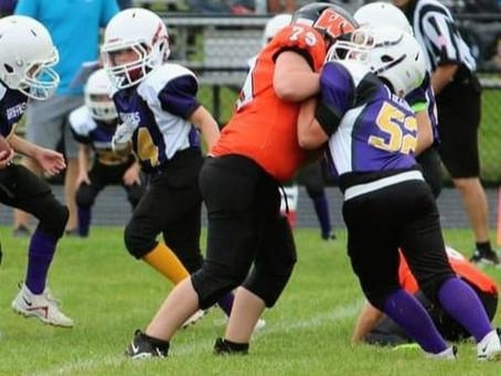 Andover Boys Assist in Wellsville Peewee Football Season