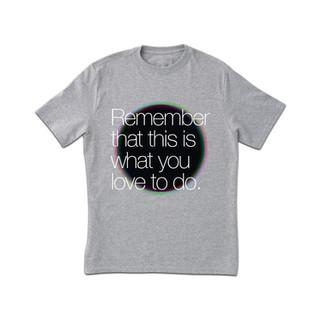 Recuerde Gris Camiseta con estampado