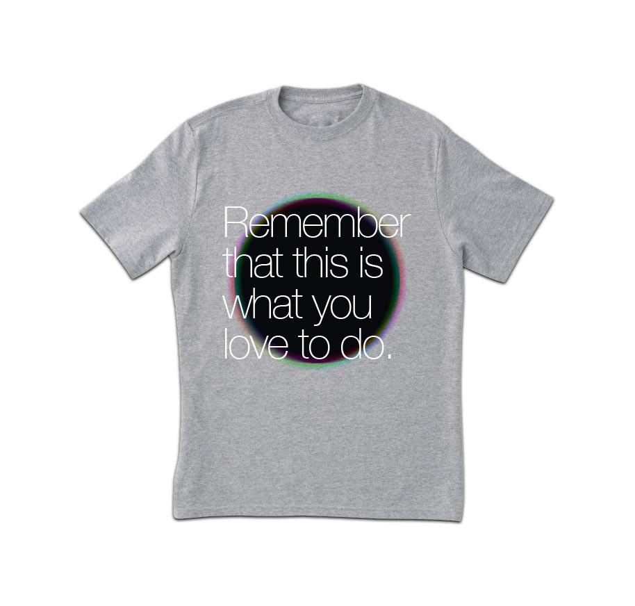 Remember Grey Print T-Shirt