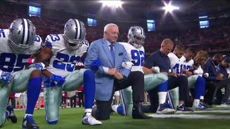 Jerry Jones Kneels during National Anthem! #TakeAKnee #