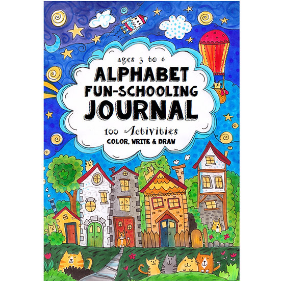 PDF - Alphabet Fun-Schooling Journal: 100 Activities - Color, Write & Draw - PDF