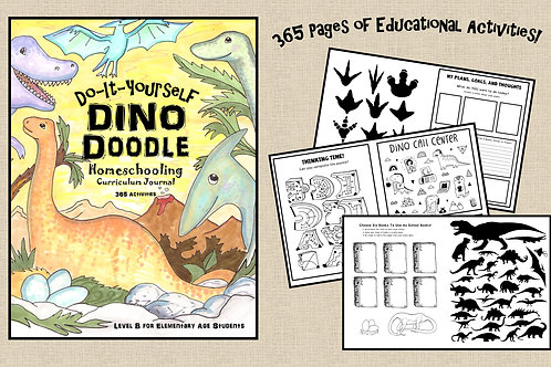 PDF - Dino-Doodle Homeschooling Curriculum - For Creative or Dyslexic Students