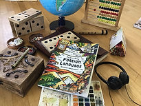 A book, Learn Any Foreign Language by Thinking Tree Books on a table