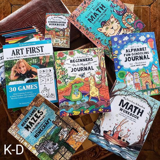 Kindergarten Dyslexic/ADHD Curriculum Bundle (Ages 4-6)