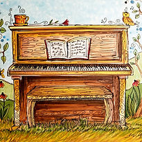 A hand-drawn piano for The Arts Fun-Schooling Theme