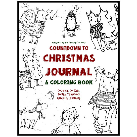 PDF - Countdown to Christmas Advent Journal & Coloring Book - North Pole Edition